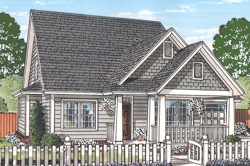 Traditional Exterior - Front Elevation Plan #513-2162 - Houseplans.com