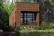 Contemporary Style House Plan - 2 Beds 1 Baths 572 Sq/Ft Plan #25-4567 Exterior - Front Elevation