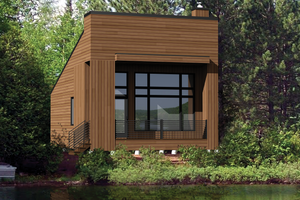 Contemporary Exterior - Front Elevation Plan #25-4567