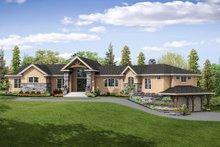 Dream House Plan - European Exterior - Front Elevation Plan #124-1062