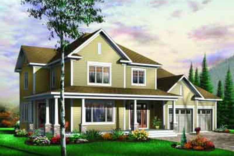 Traditional Exterior - Front Elevation Plan #23-590