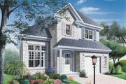 European Style House Plan - 3 Beds 1.5 Baths 1496 Sq/Ft Plan #23-281 Exterior - Front Elevation