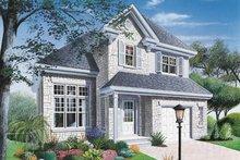 Home Plan Design - European Exterior - Front Elevation Plan #23-281