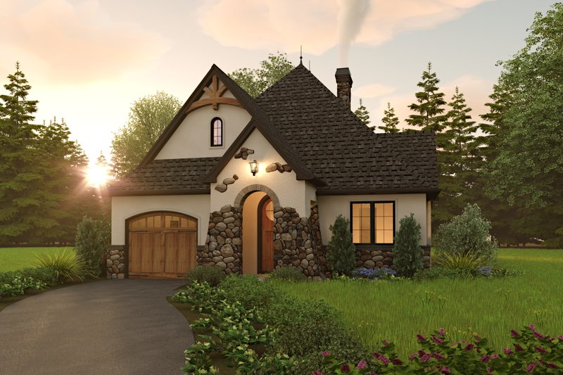Architectural House Design - Cottage Exterior - Front Elevation Plan #48-1029