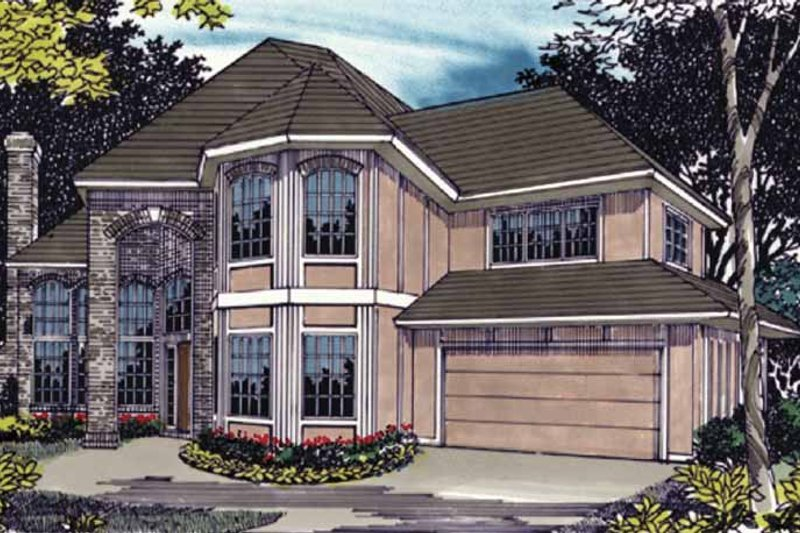 Traditional Exterior - Front Elevation Plan #509-361 - Houseplans.com