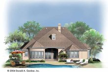 Country Exterior - Rear Elevation Plan #929-736