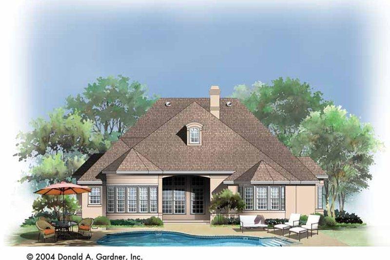 Country Exterior - Rear Elevation Plan #929-736 - Houseplans.com
