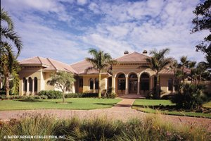Dream House Plan - Mediterranean Exterior - Front Elevation Plan #930-192
