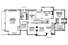European Floor Plan - Main Floor Plan Plan #20-2246
