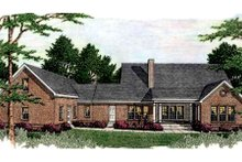 Architectural House Design - Southern Exterior - Rear Elevation Plan #406-299
