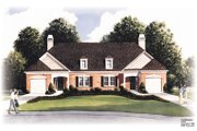 Traditional Style House Plan - 2 Beds 2 Baths 2440 Sq/Ft Plan #26-116 Exterior - Front Elevation