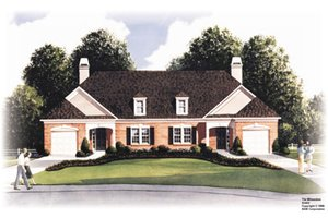 Traditional Exterior - Front Elevation Plan #26-116