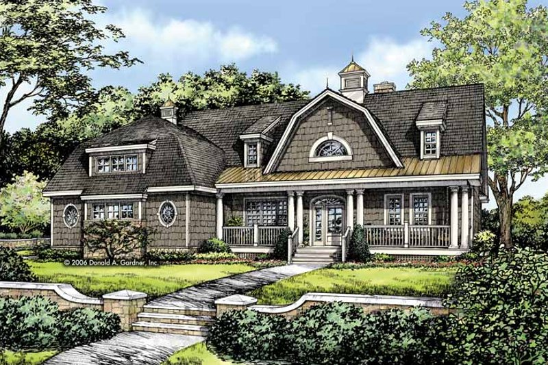 Colonial Exterior - Front Elevation Plan #929-810