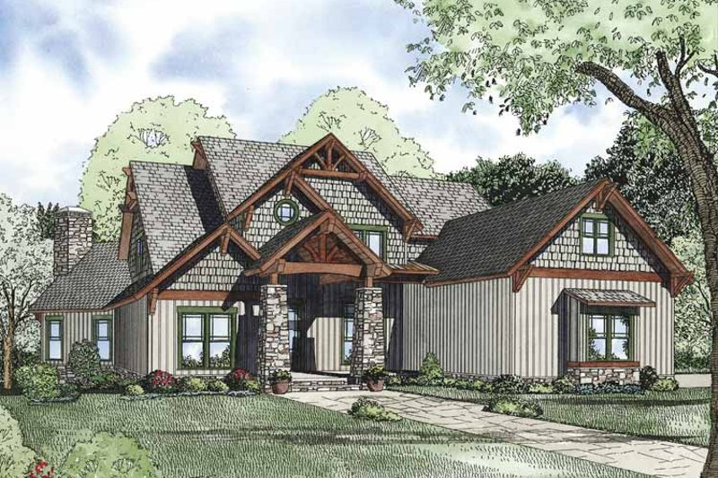 Craftsman Exterior - Front Elevation Plan #17-3323 - Houseplans.com
