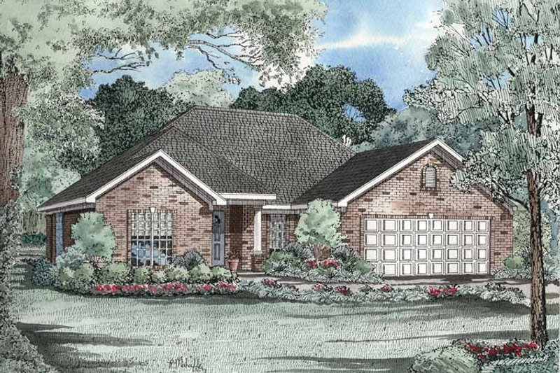 Ranch Exterior - Front Elevation Plan #17-3192