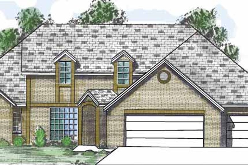 Traditional Exterior - Front Elevation Plan #52-257