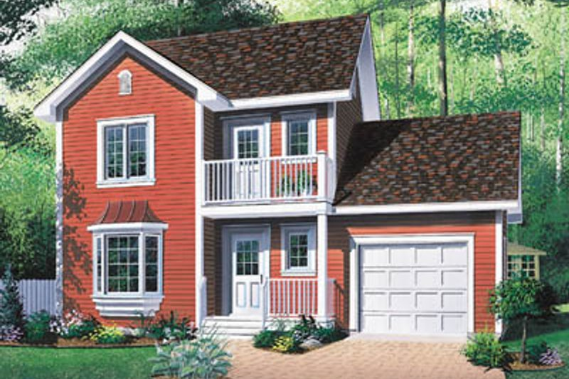 Farmhouse Style House Plan - 3 Beds 1.5 Baths 1252 Sq/Ft Plan #23-2140 Exterior - Front Elevation