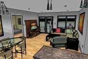 Modern Style House Plan - 4 Beds 2 Baths 1224 Sq/Ft Plan #480-1 Photo