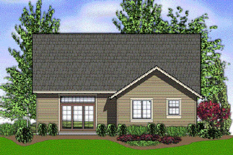 Craftsman Exterior - Rear Elevation Plan #48-439 - Houseplans.com