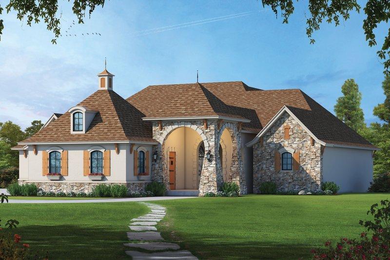 House Blueprint - European Exterior - Front Elevation Plan #20-2478