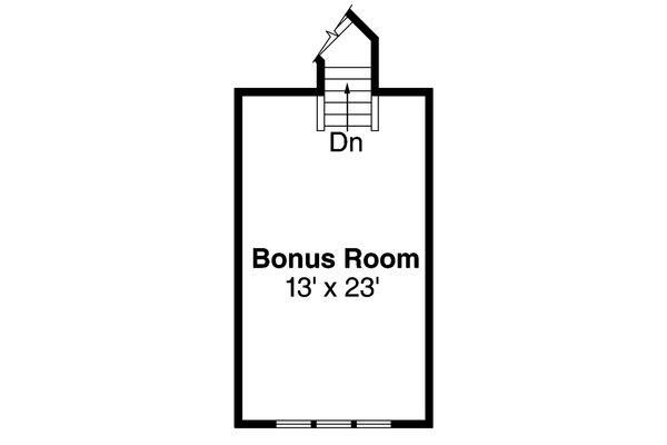 Craftsman Floor Plan - Upper Floor Plan Plan #124-460