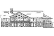 Craftsman Exterior - Rear Elevation Plan #5-345