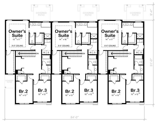 Dream House Plan - Traditional Floor Plan - Upper Floor Plan #20-2356