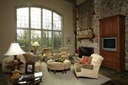 European Style House Plan - 4 Beds 3.5 Baths 4435 Sq/Ft Plan #20-2301 Interior - Family Room
