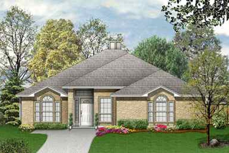 Traditional Exterior - Front Elevation Plan #84-132 - Houseplans.com