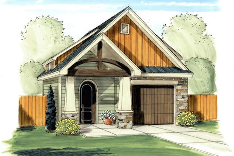 Craftsman Exterior - Front Elevation Plan #455-34
