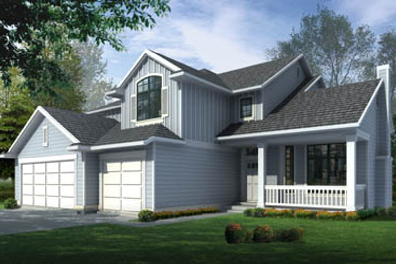 Home Plan - Traditional Exterior - Front Elevation Plan #100-212