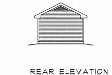 House Plan Design - Traditional Exterior - Rear Elevation Plan #22-415
