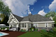Craftsman Style House Plan - 4 Beds 3 Baths 2374 Sq/Ft Plan #51-569 Exterior - Rear Elevation