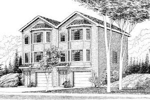European Exterior - Front Elevation Plan #303-368