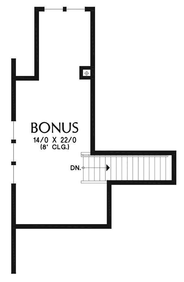 Craftsman Floor Plan - Other Floor Plan Plan #48-956