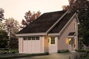 Modern Style House Plan - 1 Beds 1 Baths 656 Sq/Ft Plan #57-280 Exterior - Front Elevation