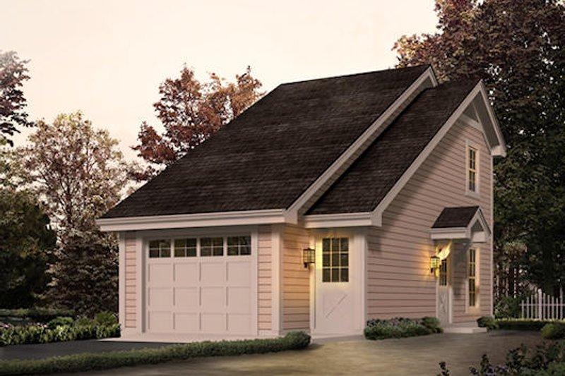 Modern Style House Plan - 1 Beds 1 Baths 656 Sq/Ft Plan #57-280
