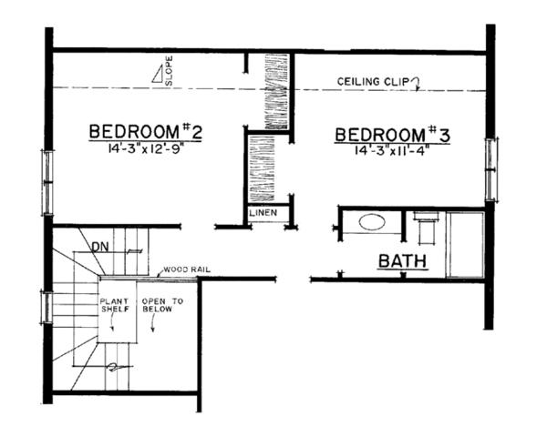 Adobe / Southwestern Floor Plan - Upper Floor Plan Plan #1016-111