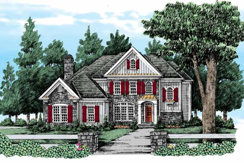 Country Exterior - Front Elevation Plan #927-314