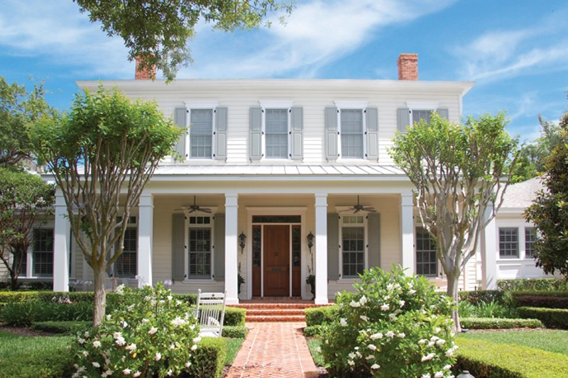 Colonial Exterior - Front Elevation Plan #1058-9 - Houseplans.com