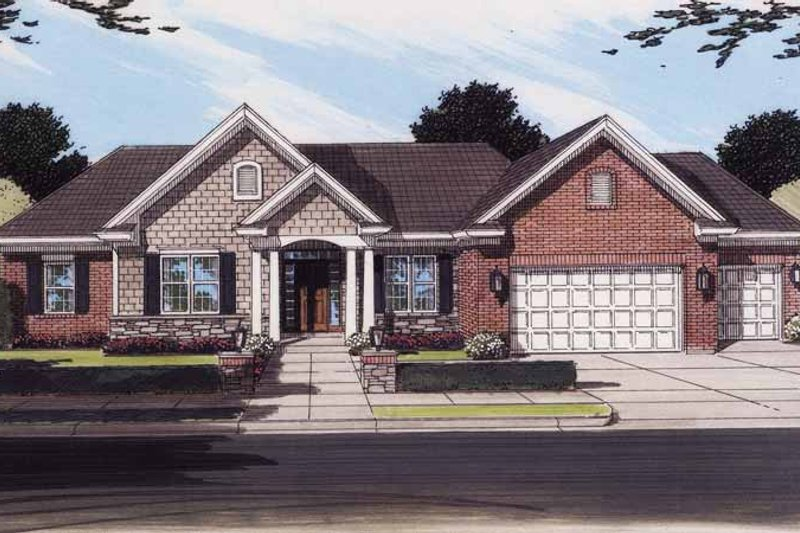 Contemporary Exterior - Front Elevation Plan #46-767