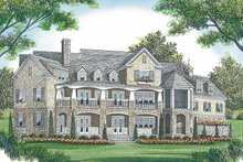 Architectural House Design - Craftsman Exterior - Rear Elevation Plan #453-455