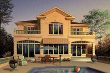 Mediterranean Exterior - Front Elevation Plan #23-280