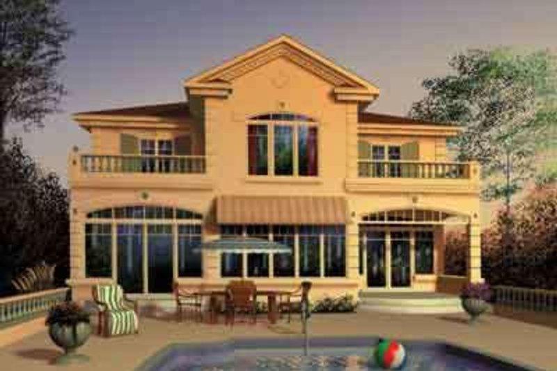 Home Plan - Mediterranean Exterior - Front Elevation Plan #23-280