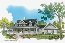 Country Exterior - Front Elevation Plan #929-350