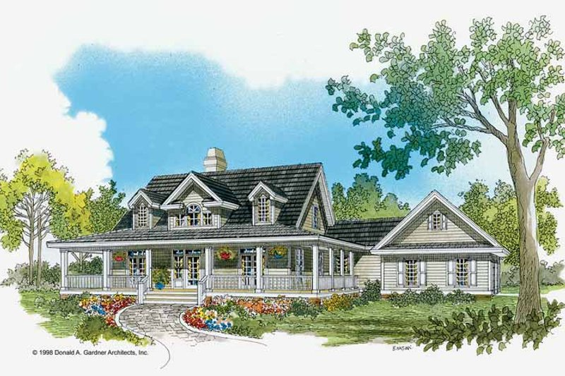 House Design - Country Exterior - Front Elevation Plan #929-350