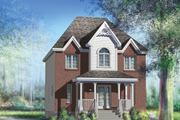 European Style House Plan - 3 Beds 1 Baths 1740 Sq/Ft Plan #25-4698 Exterior - Front Elevation