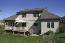 Craftsman Exterior - Rear Elevation Plan #928-130