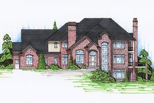 House Plan Design - Traditional Exterior - Front Elevation Plan #5-226