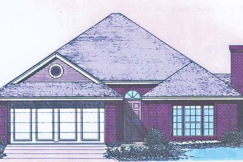Ranch Exterior - Front Elevation Plan #310-1218